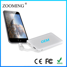 New Ultra Slim Portable Power Bank 4000mah, Dual USB Flashlight Power Bank Charger For iPhone