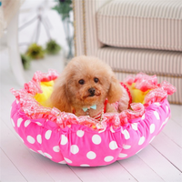 Dog Bed With Super Soft PP Cotton Pumpkin Style Pet Beds
