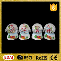 45mm custom made resin glass snow globe with nice painting figures inside