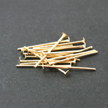 Wholesale Approx 5200pcs/lot Jewelry Pin Findings Rose Gold Plated 20MM Eye Pin DH-FZB009-20
