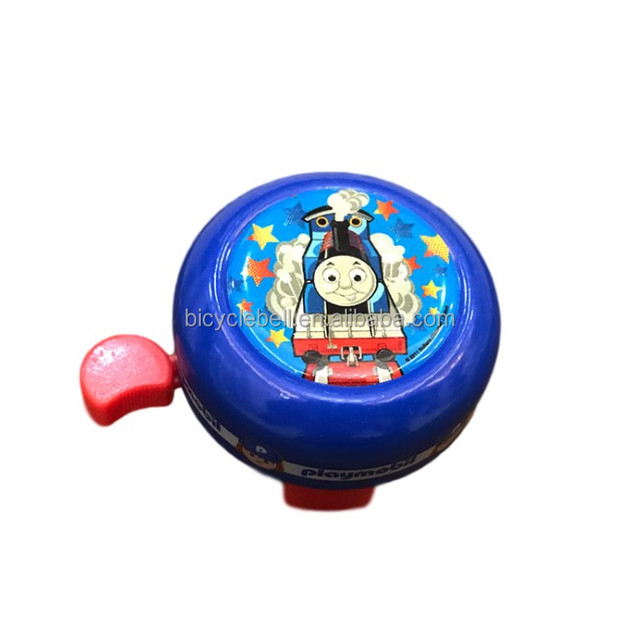 Rubber Sticker Metal Red Bell for Children Bike Kids Bicycle Handlebar Scooter