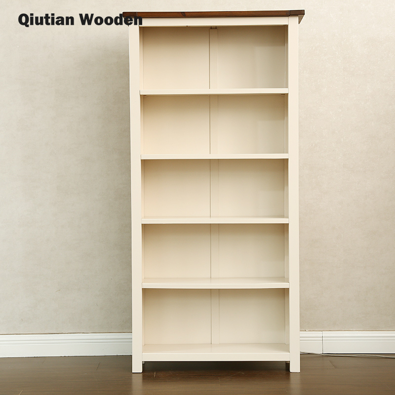 solid wood 6 tier bookcase shelf/5 tier bookcase
