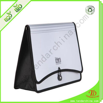 PP Accordion File Bag With Elastic Rope Closure Briefcase Bag