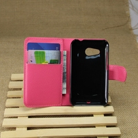 Popular hot sell wallet leather case for htc desire 200