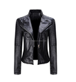 Hot Sell Women Winter Cool Short Coat Leather Jacket Warm Overcoat Outwear
