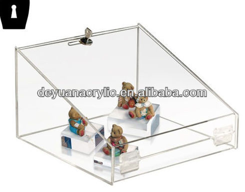 Clear Cube Acrylic Display Case with Lock