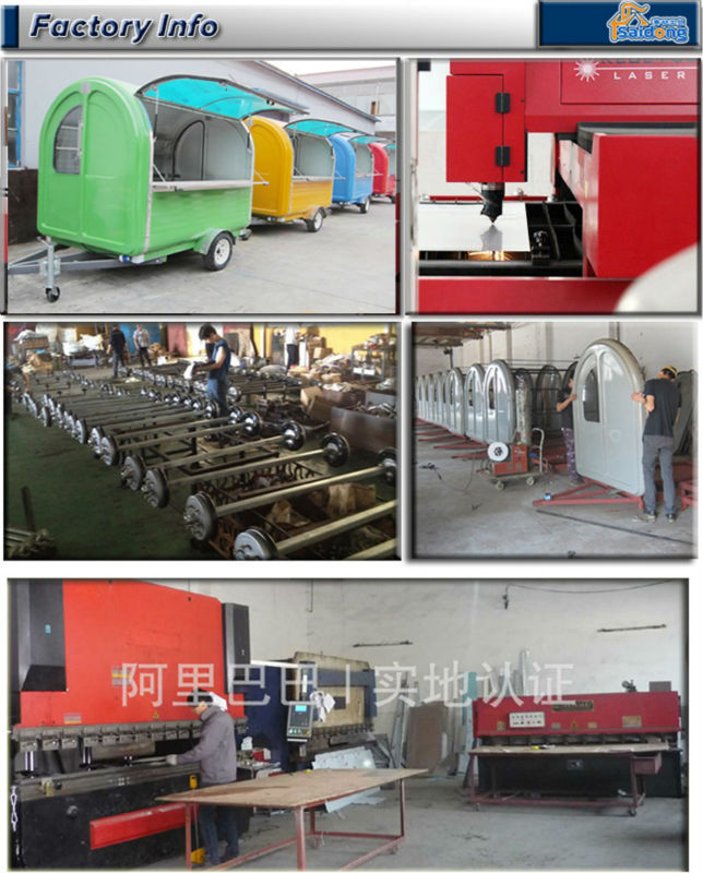Latest products mobile food cart trailer for sale food cart