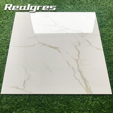 Line Stone Looks Golden Beige Super Glossy White Polished Porcelain <strong>Tile</strong>