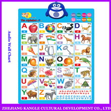 Voiced wall chart arabic language alphabet hanging chart