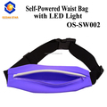 Cool colorful sport flashing led running waist bag /sport bag