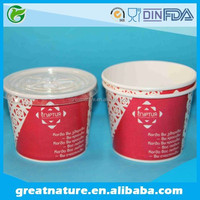 Frozen yogurt packaging container with cover