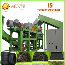 0.7-6T Per Hour Rubber Mulch Used Tire Shredder Machine for Sale