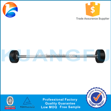 Fitness equipment Straight Fixed PU rubber coated barbell Bar