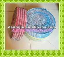 Textile woven material for kitchen cleaning sponge