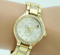 Fashion golden diamond studded wrist watch,butterfly mental watches for men (PR1134)