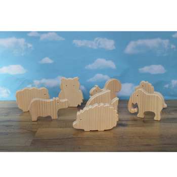 Party favors Wooden animal set for children
