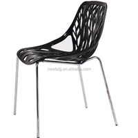 New Style Cheap Leisure Indoor Hotel Plastic Chair With Chromed Leg