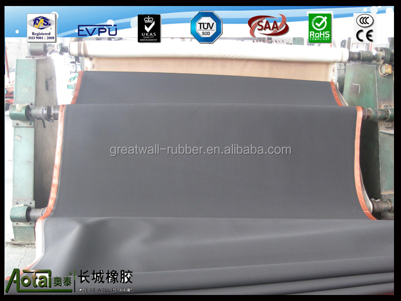 cotton nylon EP100 EP160 cloth insertion rubber sheet factory price