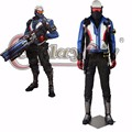Game OW Soldier 76 Cosplay Costume Adult Men Costumes Halloween Carnival Cosplay Outfit Custom Made