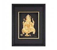 24K Gold Plated 3D Ganesha