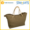 Eco-friendly Canvas Blank Ladies Beach Tote Bags With Rope Handles