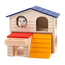 2018 wooden luxury hamster syrian hamster pet double cages