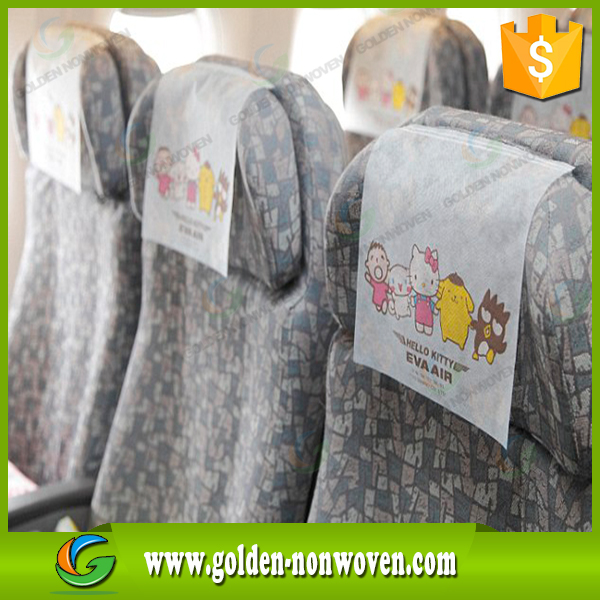 Seat nonwoven cover pp nonwoven fabirc,spunbonded non woven material for making car seat cover/airline head rest/ seat cover