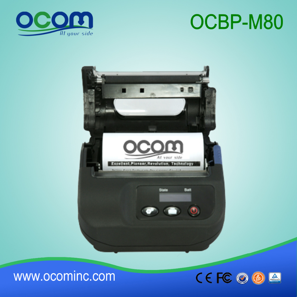 OCBP-M80: low price bluetooth thermal sticker printer 80mm