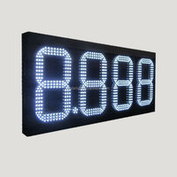 small led clock display/ digital fuel price signs/ led scrolling message tag