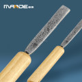 No.1707012 smooth wood grip handle Diamond Hand File for glass tools
