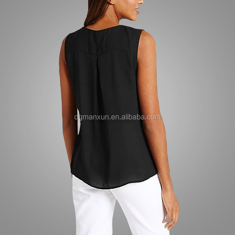 Manxun Popular Summer Short Black T-shirt Girls Hot Sexy Blouses Women tops