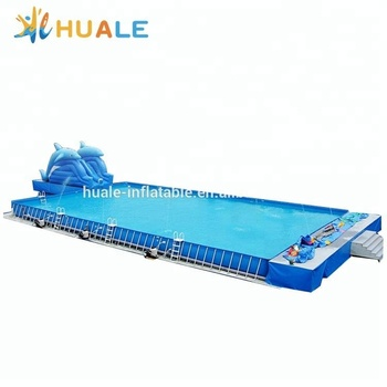 Hot sale swimming pool metal frame/detachable swimming pool /portable rectangle frame swimming pool