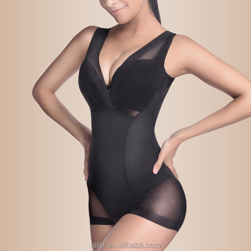 Ultra Thin Women Slimming Shapewear Wholesale Full Body Shaper V-neck Shapewear