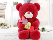 Good quality promotional pure valentine plush bear