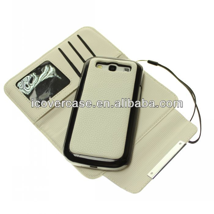 Detachable Leather Case for Samsung Galaxy S3 SIII i9300