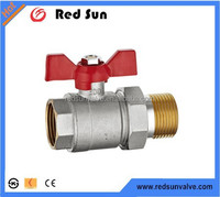 brass ball valve with butterfly handle