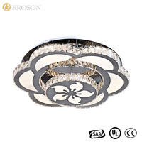 China Supplier Modern Led Ceiling Light Flush Mount, Crystal Led Ceiling Lamp For Home Hotel Display-Room