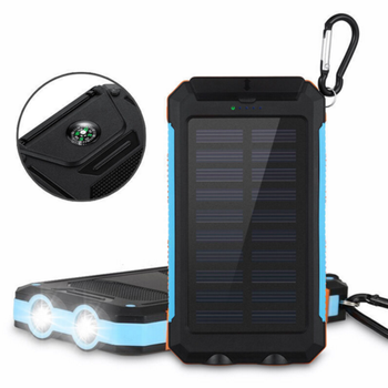 Solar Power Banks with compass 10000mah capacity Dual USB
