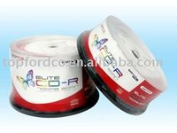 Blank CD/CDR A Grade in cake box with top label and banner