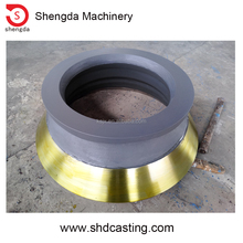 High Manganese steel spares and wear parts concave ring, mantle, bowl liner, cone crusher replacements for rock blasting
