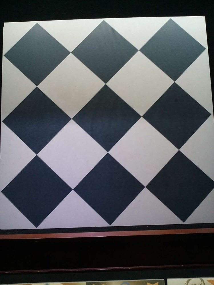 60 X 60cm Ceramic White and Black Floor Tile