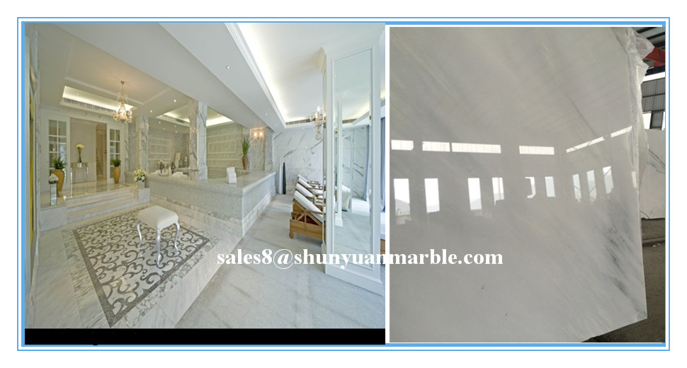 Chinese golden supplier crystal white marble tile egyptian marble prices