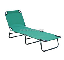 Folding 18x1.0mm Steel Frame Beach Sunbed Camping Cot
