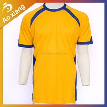 100% polyester/cotton quick dry yellow shirt wholesale blank t shirt