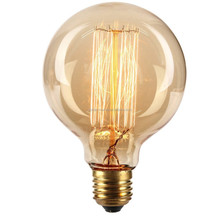 Led lamp g80 g95 g125 led light bulb e27 holiday light 110v 220v fire works lamp for home led filament bulb