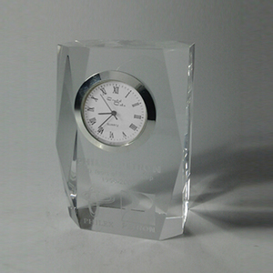 Nice Laser Engraved Crystal Gifts desk Clock