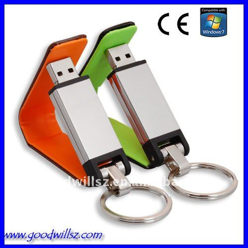 USB flash with leather case and key ring