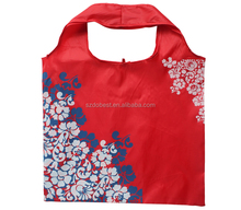 Custom pouch design sublimation printing 190T polyester foldable shopping bag