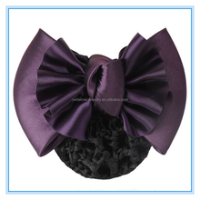 Women Satin Big Bow Hair Clip, Snood Hair Net, Barrette Hair Bun