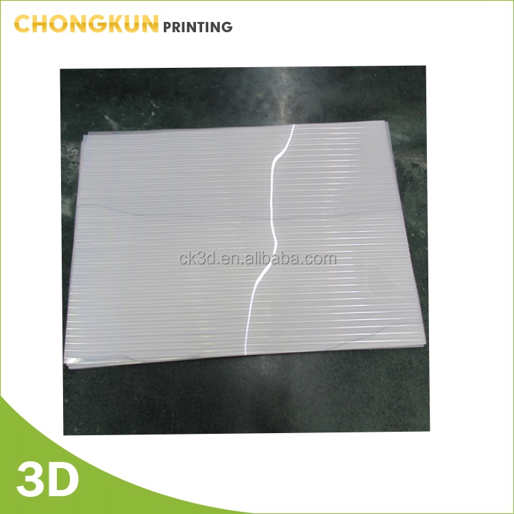 Customized Plastic PET/PP plastic sheet for lenticular printing